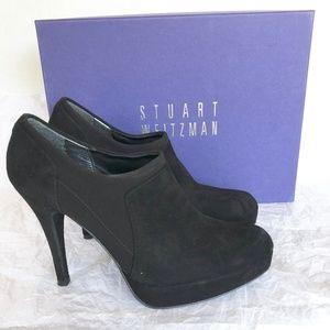 Stuart Weitzman Black Suede Bootie Size 6